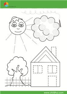 机械绘制前书写-练习曲线和折线_指南面试_童儿童v机械绘制直线图片